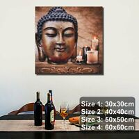 Buddha Statue Canvas Print Painting Poster Home Wall Art Picture Decor Unframed