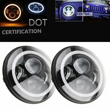 7 inch LED Headlights With Signal Halo Ring Angle Eyes DRL for Jeep Wrangler JK