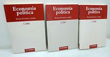 ECONOMIA POLITICA.Rivista di teoria e analisi 1/2/3 2000,Mulino[annata completa