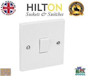 HILTON Light Switch White Plastic 1Gang 2Way Light 10Amp ***Best Quality***