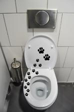 Hunde Pfoten WC Deckel Aufkleber  Toiletten Tattoo, Klo  Bad,