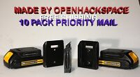 10 Pack of Dewalt 20v / 60v MAX Battery Mount Holder -- Via Priority Mail in USA