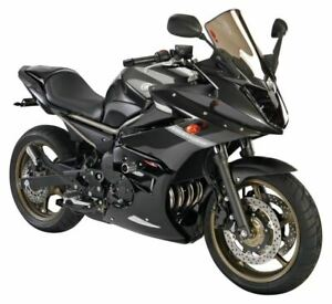 Yamaha XJ6 Diversion 09-2014 Fairing Lowers Gloss Black & Silver Mesh by Powerbr