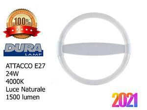 CIRCOLINA Lampada Neon Circolare E27 Risparmio Energetico Basso Consumo 24W