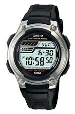 Casio W212H-1A Men's Five Alarm Countdown Timer Alarm Chronograph Watch