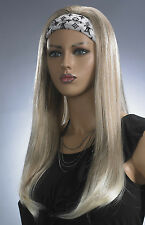 Ombre Half Wig 3/4 Wig Dip Dye Clip In Hair Piece Strawberry Light Blonde Mix
