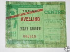 TORINO - AVELLINO BIGLIETTO TICKET 1982 / 83