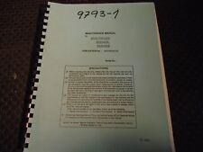 Muzak Multiplex 620 Maintenance Manual #H357Ma0013