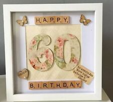 ♡☆ Personalised special birthday box frame. 60th 50th 30th 21st 18th 16th  ♡☆