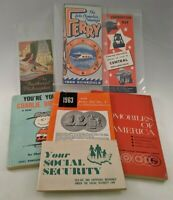 Paper Ephemera Lot 7 Items Vintage 1950's & 60's Peanuts Automobile Coin Prices
