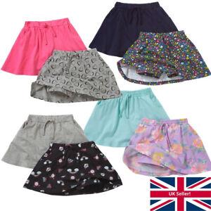 Just Essentials Girls 2 Pack Summer Skorts Shorts Skirt Holidays Floral Hearts