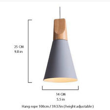 Moderne Holz Metall Licht Pendelleuchte Hölzerne Decke Lampe Schirm Weiß Schwarz