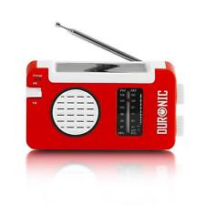 Solar Powered Radio Rechargeable Wind Up Usb Portable Travel Outdoor Am Fm Small