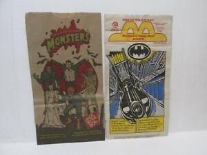 McDonald's Batman & Jack In The Box Universal Monsters Kids Happy Meal Bag cs109