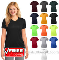 Ladies Dri-Fit Workout Performance Tee Moisture Wicking Sport Gym T-Shirt LPC380