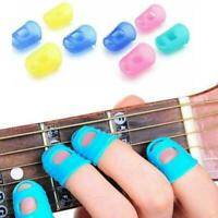 Guitar Fingertip Protectors Play Without Pain Guards Bass Ukulele Picks Hot K8X4