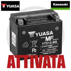 Batteria/Yuasa Kawasaki ER/500 YTX12/BS 12 V 10 Ah 180 ATTIVATA  X MOTO ER 500