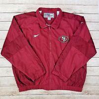Reebok NFL Pro Line San Francisco 49ers Jacket Mens Sz XXL Vintage 90s