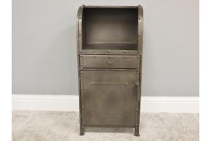 Vintage Industrial 1 drawer bedside urban vintage industrial cabinet