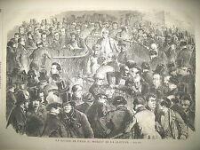 BOURSE DE PARIS CLOTURE SYDENHAM PALEONTOLOGIE RACES FOSSILES GRAVURES 1859