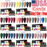 MEET ACROSS 6 Bottles Set UV Gel Nail Polish Soak Off Gel Varnish Glitter 8ml US