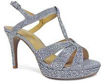 Thalia Sodi Women's Open Toe Special Occasion Slingback Sandal Silver Size 9.5 M