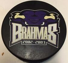 2002-03 Fort Worth Brahmas Official Game Used Hockey Puck WPHL