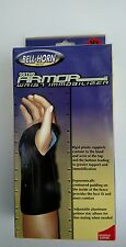 """Bell-Horn Ortho Armor Wrist Immobilizer Style 382 ADULT LEFT XL 9""""-10"""" Black/Blu"""