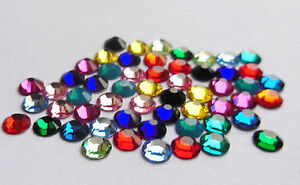 72 SWAROVSKI Hotfix Crystals SS16 or 4mm - STUNNING COLOURS - GREAT PRICE