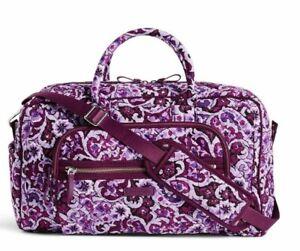 Vera Bradley Lilac Paisley Compact Weekender Travel carry on Bag NWT Free ship
