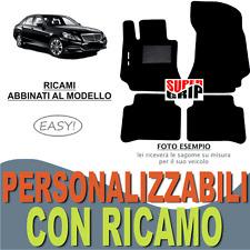 TAPPETI AUTO SU MISURA PER MERCEDES CLASSE E W212 MOQUETTE E GOMMA RICAMO EASY