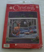 Christmas Silent Night Counted Cross Stitch Sealed Designs For the Needle Unopen