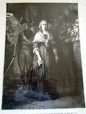MARIE ANTOINETTE / TRIBUNAL / PAUL DELAROCHE  / SC 131 / ILLUSTRATION ANCIENNE