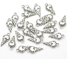 12 pcs ICE CREAM CONE Tibet silver Charms Pendants DIY Jewellery Making