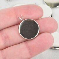 10 Stainless Steel 14mm Round Circle CABOCHON SETTING Bezel Frame Charm chs5635