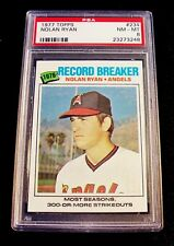 1977 Topps #234 Nolan Ryan HOF Angels Record Breaker PSA NM-MT 8 INCREDIBLE!
