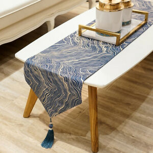 Luxurious Table Runner Wedding Party Table Cabinet Decorate Patterned Tablecloth