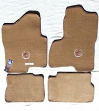 Cadillac Escalade & ESV/EXT 4PC Beige Custom Carpet Floor Mats w/Logo 2003-2006