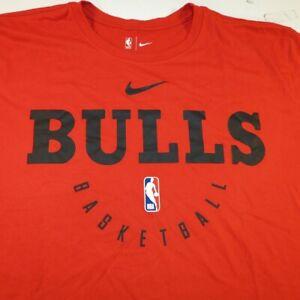 THE NIKE TEE DRI FIT CHICAGO BULLS NBA BASKETBALL TEE T SHIRT Mens XL Red