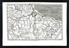 1779 Bonne Map - Northeast Brazil Amazon Marijo Recife Salvador - Lake Parime