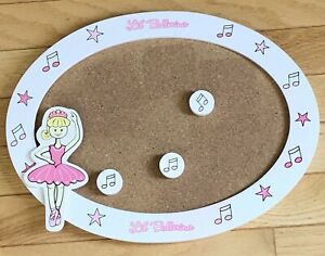 Labor Day SALE Ballerina Cork Display Board With Musical Notes Tacks