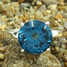London Blue Topaz 925 Sterling Silver Handmade Ring Jewelry s.9 SDR81714