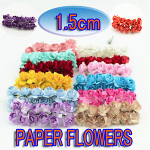 144Pcs Mini Artificial Flowers Small Foam Rose Heads Wedding Party  Bouquet