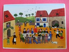 Villeroy Boch Porcelain Postcard LAPLAU  Village Festival Made W. Germany Naif