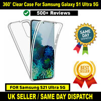 Shockproof 360 Front & Back CLEAR Case For Samsung Galaxy S21 ULTRA 5G SM-G998B
