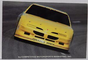 PONTIAC GRAND PRIX YELLOW 1992 WINSTON CUP SCHEDULE WALTRIP MIKE NASCAR POSTCARD
