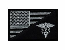 EMT USA Flag Medic Ems Tactical Velcro Patch (Acu Subdued Silver-MFY12)