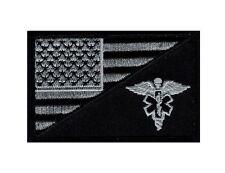 EMT USA Flag Medic Ems Tactical HOOK Patch (Acu Subdued Silver-MFY12)