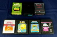Vintage Atari 2600 Game Cartridge Lot Of 7 Pac-Man Pitfall Swordquest Soccer +