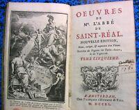 1740 LETTRES CICERON A ATTICUS SAINT REAL GRECE GRAVURES LIVRE BOOK ANTIQ ITALIE